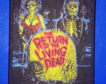Return of the Living Dead WOVEN PATCH - HORROR movie - zombies, tarman, 80s punk rock