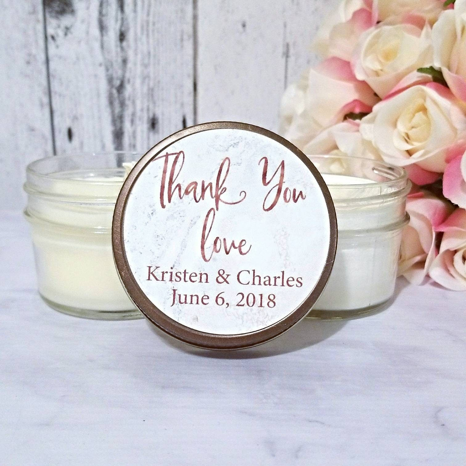 Marble Wedding Favor - Personalized Wedding Favors Candles - Marble ...