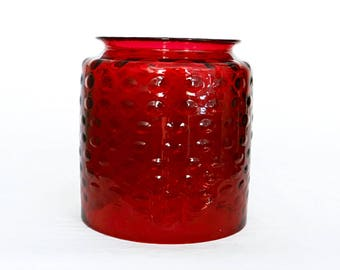 Antique Cranberry Glass Hall Lamp Shade Cylinder Globe