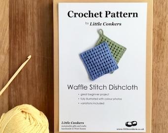 Crochet Dishcloth Pattern / Beginner Crochet Gift / Gift for Crocheter / Crochet Pattern Gift / Printed Paper Pattern / Craft Gift for her