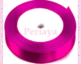 Ribbon satin fushia pink 12mm REF2770 23 meters