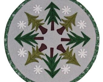 PDF Pattern - Pine Forest 16 inch WoolFelt Table Mat