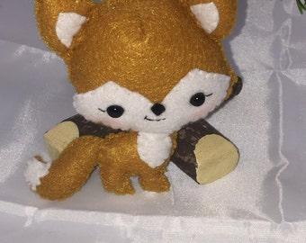Wool felt Fox Ornament