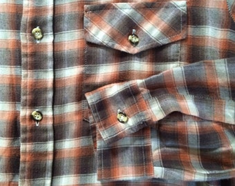 Plaid flannel work shirt