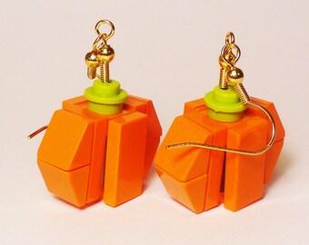 Mini Pumpkin Dangle Earrings