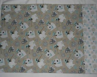 Winter Pillowcase Polar Bear Penguin Husky Dog Snowflake Standard Size 28 x 19.5 Cotton
