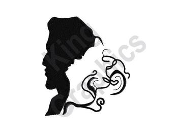 Wedding Silhouette - Machine Embroidery Design, Bride and Groom