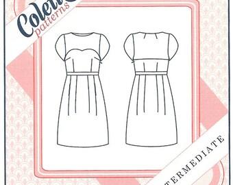 Colette 1001 - MACARON DRESS  - Sewing Pattern - Multi Sizes 0 to 18 - UNCUT