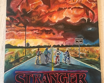 Stranger Things Acrylic on Canvas A2