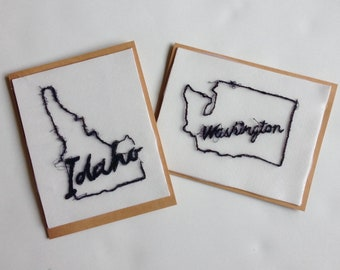 Art Cards---Stitched States