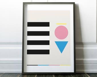 Random Forms - Graphic Art Poster
