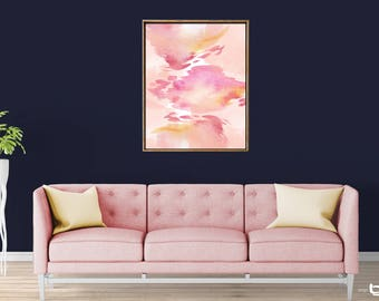 Colorful Abstract Watercolor Painting, Pink abstract Print, Abstract Watercolor Art, Giclee Abstract Watercolor Print, Abstract Art