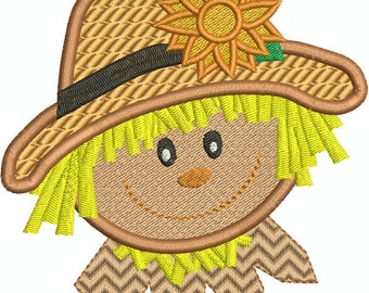 Scarecrow Fancy Fill  Machine Embroidery