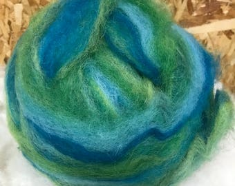 Alpaca Wool Roving, Spinning, Felting, Mermaid