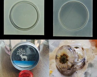 Small round box Silicone Mold , epoxy resin mold