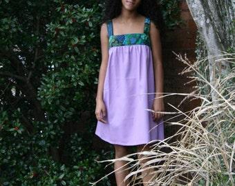 Babydoll dress in lavender