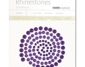 Kaisercraft - Rhinestones - DARK PURPLE - Self Adhesive - sb706 - Crystal - Gemstones
