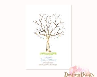 Fingerprint Tree • DIGITAL FILE • Personalised and print ready