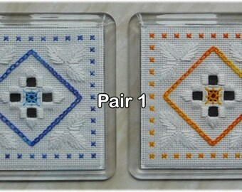 Embroidered coasters (set of 2)