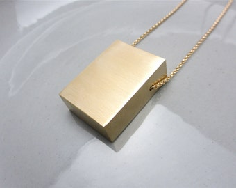 Statement Necklace Minimalist Jewelry Material Purity Series Monolith I