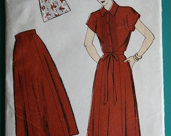 1940's Vintage New York Pattern Company Dress Pattern