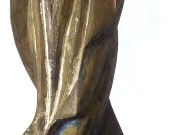 Antique Stunning Beautiful Tall Immaculate Conception Wooden Philippine Santos