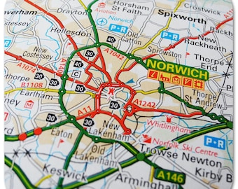 Norwich Map Coasters