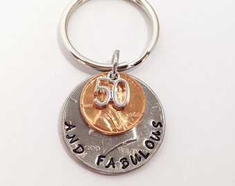 50th Birthday Gift, Over the Hill Gift, 50th Birthday Gift for Woman, 50th Birthday Gift for Men, Fifty Gift, 1968 Penny, 50 Years, 50th