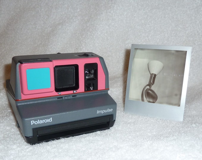 Polaroid Impulse With Close Up Built In - Upcycled Turquoise and Pink