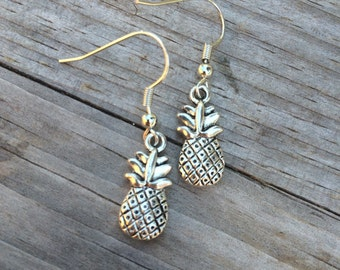 Simple Pineapple Earrings, Pineapple Earrings, Hawaiin Earrings