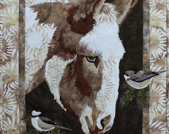 Matilda Donkey Toni Whitney Applique Bigfork Bay Quilt Pattern
