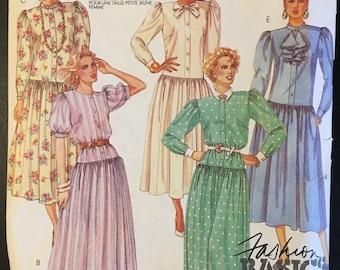 VINTAGE 1980's DRESS PATTERN McCall's 3331 sz 12-14-16.
