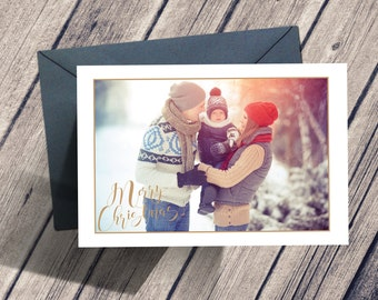 Modern Christmas Card, Christmas Card Template, Holiday Photo Card, Family Holiday Card, Family Christmas Card, Christmas Photo Card