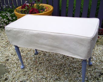 Bench Slipcover Bench Cover with welt cord Piano Bench Cover Ottoman Cover Seat Cover