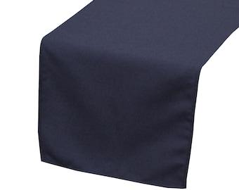 YCC Linen - Navy Blue Polyester Table Runner | Wedding Table Runner