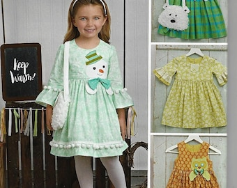 Simplicity Pattern #8522 Child's Dresses and Purses from Ruby Jean's Closet~ Child Size 3-8~New Uncut Factory Folded
