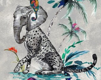 ChiMiracle Snow Leopard Elephant print CHOICE OF COLOURS