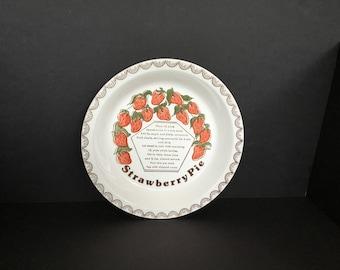 Vintage Strawberry Pie Pan