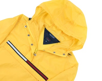 Vintage Tommy Hilfiger Windbreaker Jacket Sailing Gear Guess Jeans Spellout medium Athletic Gear Ralph Lauren Polo Sport
