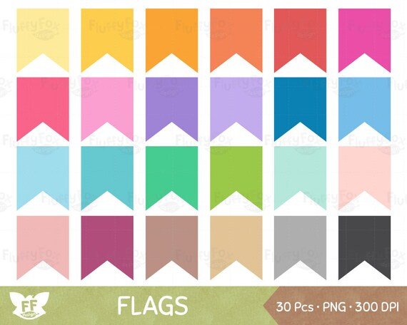 bunting flag clipart flags banner clip art pennant colorful