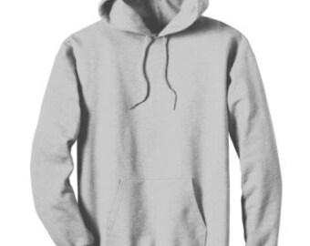 Custom Photo Imprinted Cotton Pull Over Hoodie