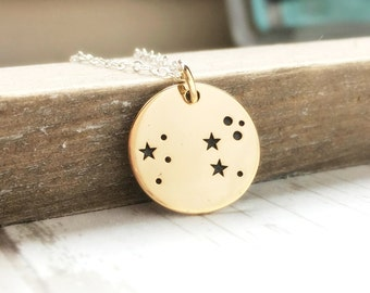 Leo Necklace - Leo Jewelry - Zodiac Jewelry - Zodiac Necklace- Constellation- Star Sign- July August Birthday Gift for Her - Sterling Silver