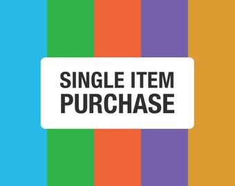 Single Item Purchase, Digital Item