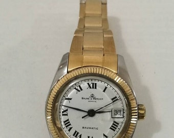 Vintage Watch, Baume & Mercier, Automatic, Automatic, metal gold, anni90, free shipping,