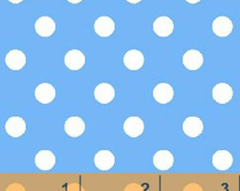 Windham Basic Brights - Aspirin Dot in Periwinkle Blue / White - Bright Basics Cotton Quilt Fabric Dots - Windham Fabrics - 29398-5 (W4148)