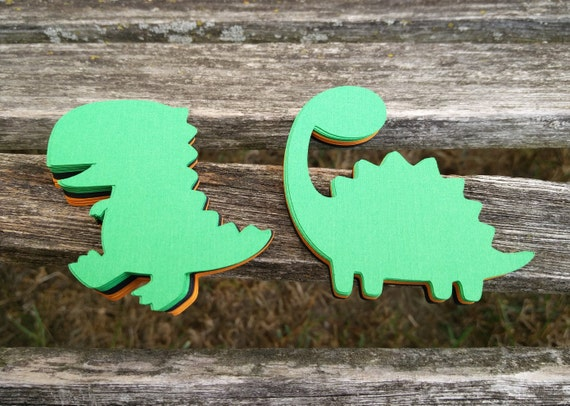 50 Dinosaurs. 3.5 inch. Your Choice Of Color. Custom Orders Welcome. Weddings, Favor, Wishing Tree, Escort, Gift, Table.