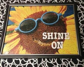 Sunflower Puzzle Art