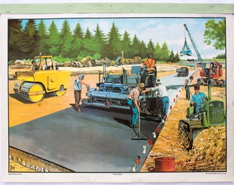 Highway construction, educational chart, 1965