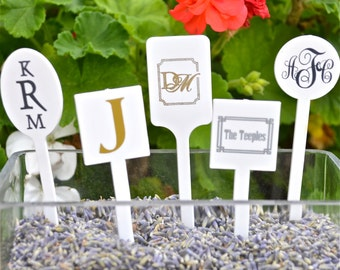 Personalized Plastic Drink Stir Sticks, Monogrammed Drink Stirrers, Custom Swizzle Sticks, Wedding Stir Sticks, Baby Shower, Bridal Shower