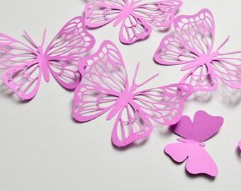 3D Butterflies Stickers, Paper Butterfly Wall Art, 3D Paper Wall Butterfly Decoration, Butterfly Birthday Decor, Butterflies Wall Decal